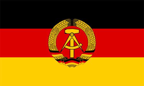 Bandera de Alemania Democratica (RDA)